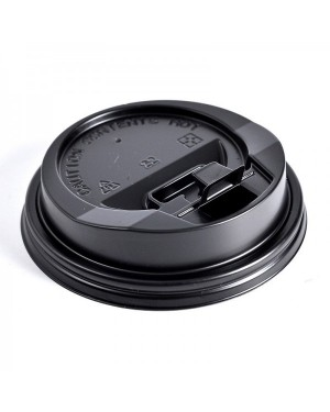 100'S 8OZ COFFEE CUP SIPPER LID - BLK