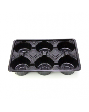 125'S BLACK 6COM. CUP HOLDER TRAY