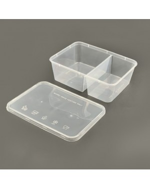 50'S 2 COMPARTMENT CONTAINER 750DS W/LID