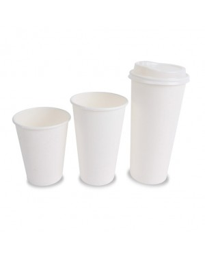 100'S 8OZ SINGLE WALL PAPER CUP WHITE