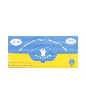 100'S CPE DISPOSABLE GLOVES L