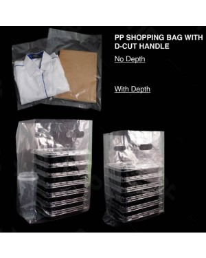 """100'S 12 (16"""") X 19"""" PP CLEAR CARRIER BAG"""