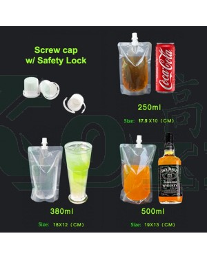 100'S 380ML SUCTION DRINK BAG 120 X 180 MM