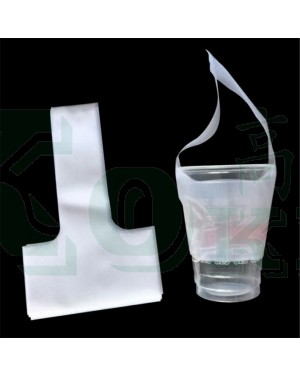 "1000'S 4.75"" X 9"" TRANSPARENT CUP HOLDER"
