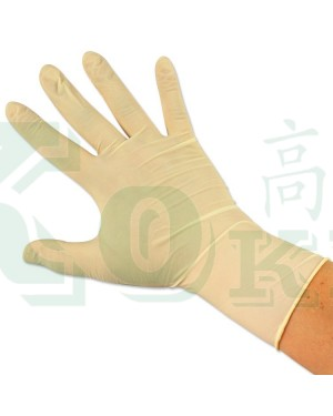 100'S DIS.LATEX GLOVE - L