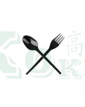 "50'S 6.5"" PARTY FORK BLACK"