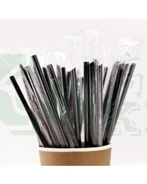8000'S 8 x 210MM BLACK INDIVIDUAL SHARP STRAW