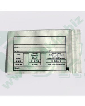 100PCS PHARMACY ZIPPER BAG